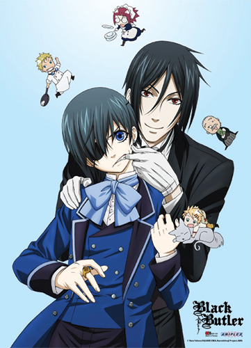 Black Butler - Sebastian And Ciel With Chibi Special Edition Wallscroll, an officially licensed product in our Black Butler Wall Scroll Posters department.