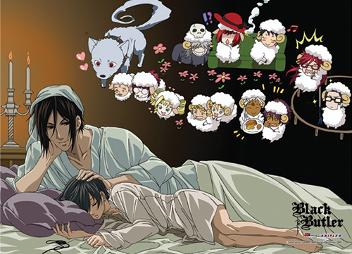 Black Butler - Sleeping Special Edition Wallscroll, an officially licensed Black Butler product at B.A. Toys.