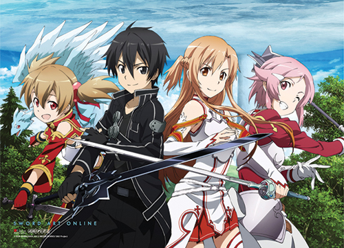 Sword Art Online - Main 4 Special Edition Wallscroll officially licensed Sword Art Online Wall Scroll Posters product at B.A. Toys.