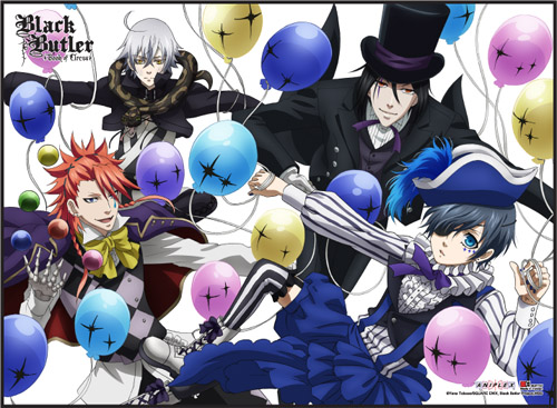 Black Butler B.O.C. - Group 3 Special Edition Wall Scroll, an officially licensed Black Butler Book Of Circus product at B.A. Toys.