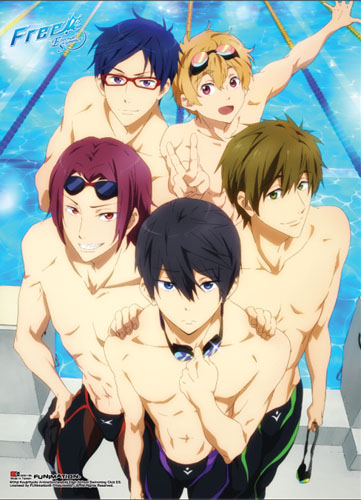 Free! 2 - Group 02 Special Edition Wallscroll, an officially licensed product in our Free! Wall Scroll Posters department.