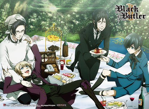 Black Butler 2 - Group 1 Special Edition Wall Scroll, an officially licensed Black Butler product at B.A. Toys.