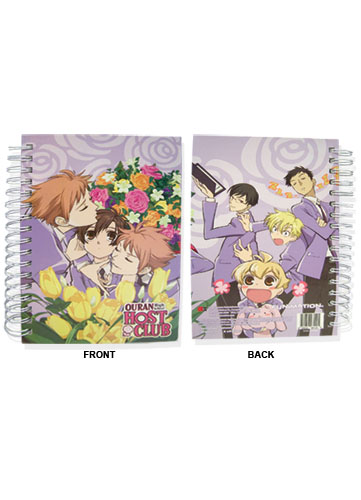 Ouran High School Host Club Hardcover Notebook, an officially licensed product in our Ouran High School Host Club Stationery department.