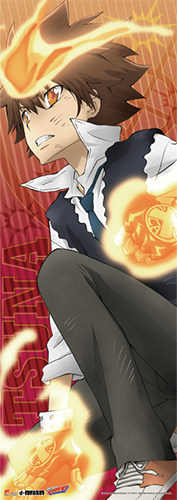 Reborn - Tsuna Human Size Wall Scroll, an officially licensed product in our Reborn! Wall Scroll Posters department.