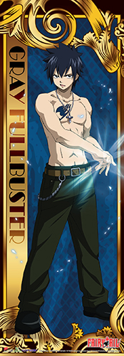 Fairy Tail - Gray Human Size Wall Scroll, an officially licensed product in our Fairy Tail Wall Scroll Posters department.