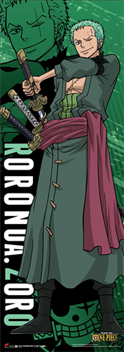 One Piece - Zoro New World Human Size Wall Scroll, an officially licensed product in our One Piece Wall Scroll Posters department.