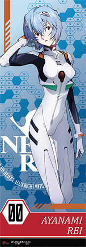 Evangelion - Rei Human Size Special Edition Wall Scroll officially licensed Evangelion Wall Scroll Posters product at B.A. Toys.