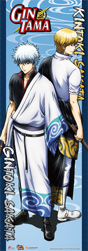 Gintama S3 - Gintoki & Kintoki Human Size Wall Scroll, an officially licensed product in our Gintama Wall Scroll Posters department.