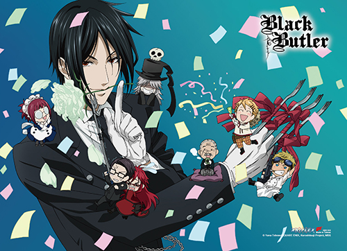 Black Butler - Group 1 High-End Wall Scroll, an officially licensed Black Butler product at B.A. Toys.