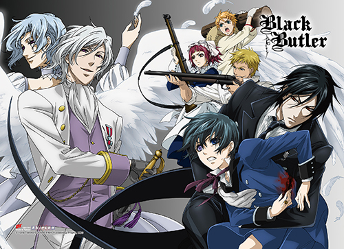 Black Butler - Group 2 High-End Wall Scroll, an officially licensed Black Butler product at B.A. Toys.
