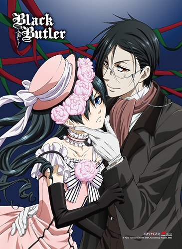 Black Butler - Ciel & Sebastian Hi-End Wall Scroll, an officially licensed product in our Black Butler Wall Scroll Posters department.
