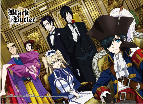 Black Butler 2 - Group High-End Wall Scroll, an officially licensed Black Butler product at B.A. Toys.