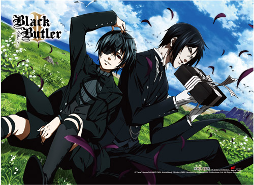 Black Butler 2 - Ciel & Sebastian High-End Wall Scroll, an officially licensed product in our Black Butler Wall Scroll Posters department.