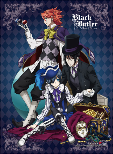 Black Butler B.O.C. - Group 2 High-End Wall Scroll, an officially licensed Black Butler Book Of Circus product at B.A. Toys.