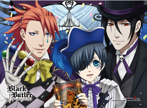 Black Butler B.o.c. - Group 2 High-end Wall Scroll officially licensed Black Butler Book Of Circus Wall Scroll Posters product at B.A. Toys.