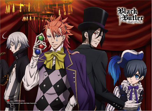 Black Butler B.o.c. - Group 3 High-end Wall Scroll officially licensed Black Butler Book Of Circus Wall Scroll Posters product at B.A. Toys.