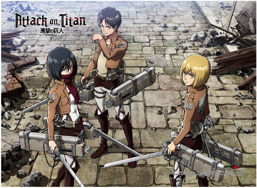 Attack On Titan - Group 1 High-End Wall Scroll, an officially licensed Attack On Titan product at B.A. Toys.