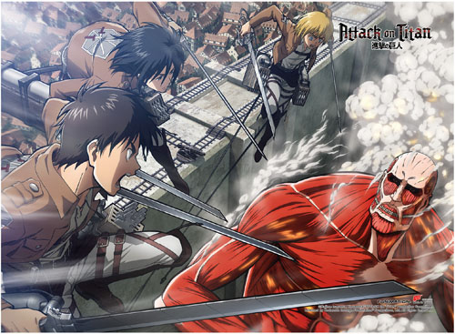 Attack On Titan - Grou2 High End Wall Scroll, an officially licensed product in our Attack On Titan Wall Scroll Posters department.