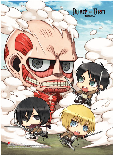 Attack On Titan - Sd Group High-End Wall Scroll, an officially licensed Attack On Titan product at B.A. Toys.