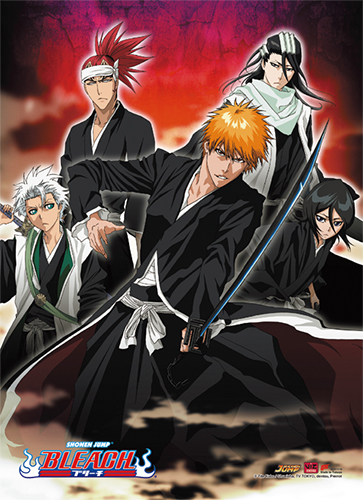 Bleach - Group 2 Hi-End Wall Scroll, an officially licensed Bleach product at B.A. Toys.