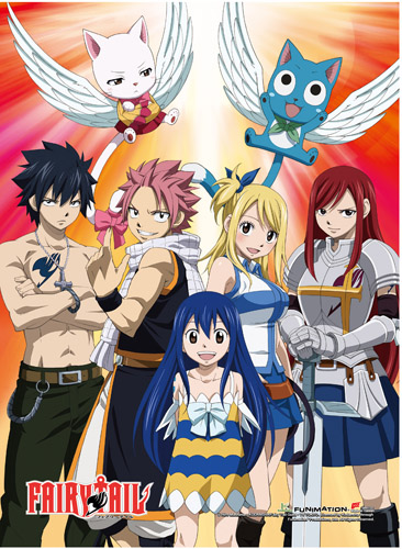 Fairy Tail - Group 2 Hi-End Wall Scroll, an officially licensed product in our Fairy Tail Wall Scroll Posters department.
