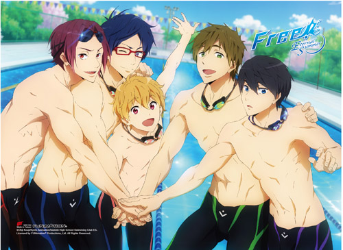 Free! 2 - Group Hi-End Wall Scroll, an officially licensed product in our Free! Wall Scroll Posters department.