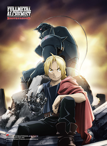Fullmetal Alchemist Brotherhood - Edward & Alphonse High-End Wall Scroll, an officially licensed product in our Fullmetal Alchemist Wall Scroll Posters department.