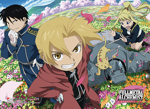 Fullmetal Alchemist Brotherhood - Group High-End Wall Scroll, an officially licensed product in our Fullmetal Alchemist Wall Scroll Posters department.