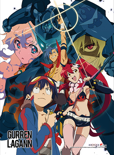 Gurren Lagann - Group 1 High-End Wall Scroll, an officially licensed product in our Gurren Lagann Wall Scroll Posters department.