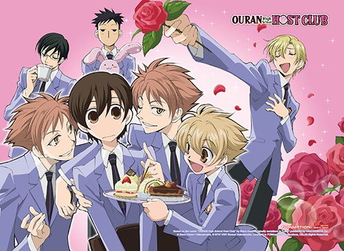 Ouran High School Host Club - Group High-End Wall Scroll, an officially licensed product in our Ouran High School Host Club Wall Scroll Posters department.