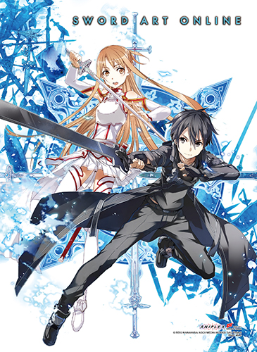 Sword Art Online - Kirito & Asuna 2 High-End Wall Scroll, an officially licensed product in our Sword Art Online Wall Scroll Posters department.