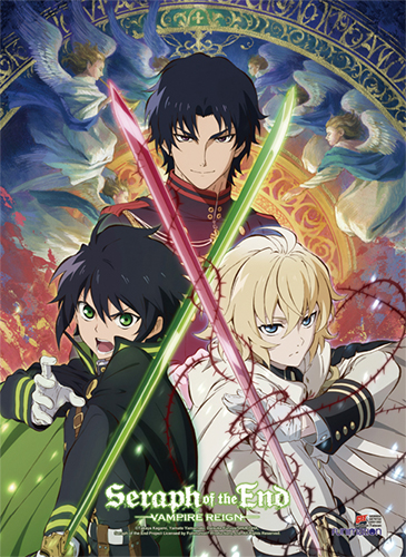 Seraph Of The End - Key Art 2 High-End Wall Scroll, an officially licensed product in our Seraph Of The End Wall Scroll Posters department.