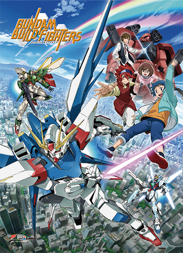 Gundam Build Fighters - Key Art High-End Wall Scroll, an officially licensed product in our Gundam Build Fighters Try Wall Scroll Posters department.