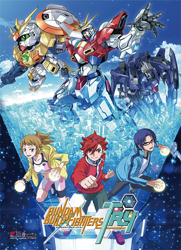 Gundam Build Fighters Try - Key Art High-End Wall Scroll, an officially licensed product in our Gundam Build Fighters Try Wall Scroll Posters department.