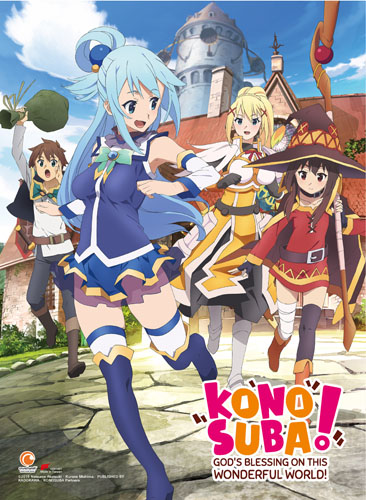 Konosuba - Key Art High-End Wall Scroll, an officially licensed product in our Konosuba Wall Scroll Posters department.