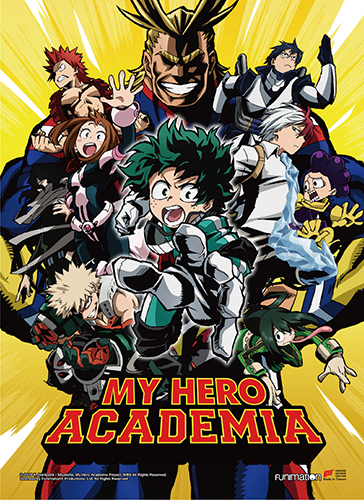My Hero Academia - Key Art 1 High-End Wall Scroll, an officially licensed product in our My Hero Academia Wall Scroll Posters department.