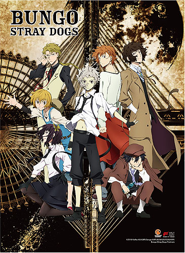 Bungo Stray Dogs - Key Art High-End Wall Scroll, an officially licensed Bungo Stray Dogs product at B.A. Toys.