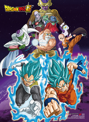 Dragon Ball Super - Resurrection F Group 01 High-End Wallscroll, an officially licensed product in our Dragon Ball Super Wall Scroll Posters department.