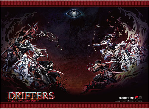 Drifters - Key Art High-End Wall Scroll, an officially licensed product in our Drifters Wall Scroll Posters department.
