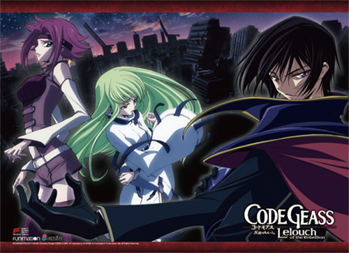 Code Geass - Lelouch, Kallen & Cc High-End Wall Scroll, an officially licensed product in our Code Geass Wall Scroll Posters department.