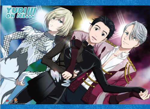 Yuri!!! On Ice - Yuri & Victor Yurio Hi-End Wall Scroll, an officially licensed product in our Yuri!!! On Ice Wall Scroll Posters department.