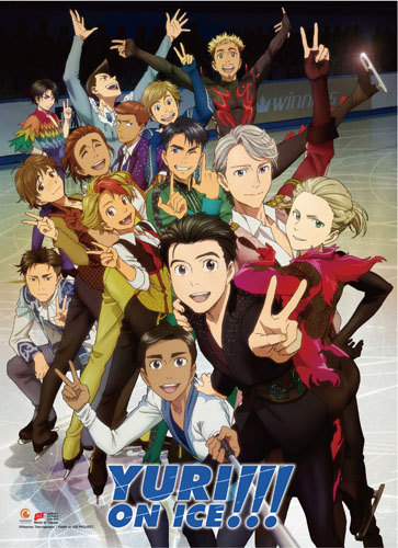 Yuri On Ice!!! - New Key Art High-End Wall Scroll, an officially licensed product in our Yuri!!! On Ice Wall Scroll Posters department.