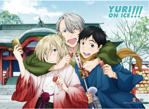 Yuri On Ice!!! - Japan New Year High-End Wall Scroll, an officially licensed product in our Yuri!!! On Ice Wall Scroll Posters department.