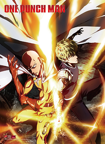 One Punch Man - Key Art 3 High-End Wall Scroll, an officially licensed product in our One-Punch Man Wall Scroll Posters department.