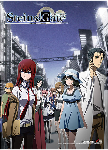 Steins;Gate - Key Art 2 High-End Wall Scroll, an officially licensed product in our Stein;S Gate Wall Scroll Posters department.