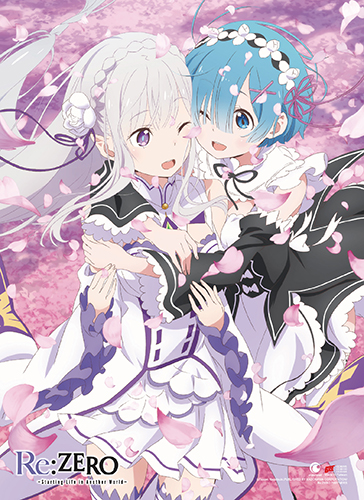 Re:Zero - Emilia & Remin Spring High End Wall Scroll, an officially licensed product in our Re-Zero Wall Scroll Posters department.