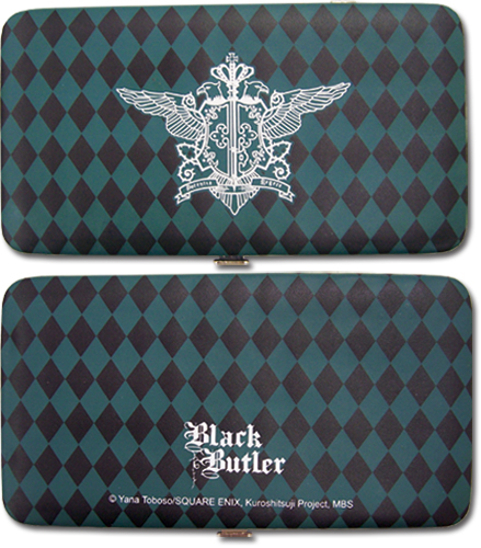 Black Butler Phantomhive Emblem Clutch Wallet, an officially licensed Black Butler product at B.A. Toys.