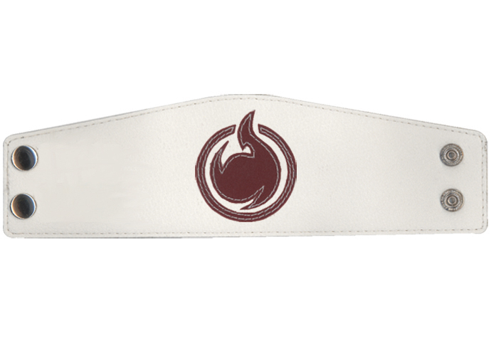 Hell Girl Hell Symbol Leather Wristband, an officially licensed product in our Hell Girl Wristbands department.