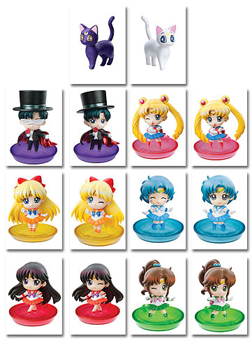 Sailor Moon - Petit Chara You're Punished Version (6pcs / Set), an officially licensed Sailor Moon Bobble Head/ Figure