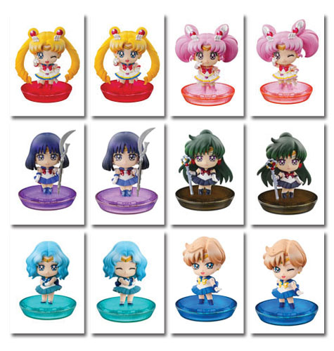 Sailor Moon - Petit Chara With Soldiers (6pcs / Set), an officially licensed Sailor Moon Bobble Head/ Figure